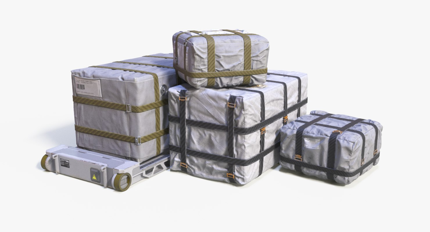 3D cargo box pallet model