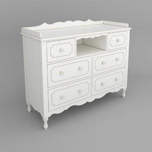 3D model commode white