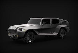 3D model concept modelled