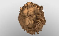 Lion head sculpture for Viz and 3d printing