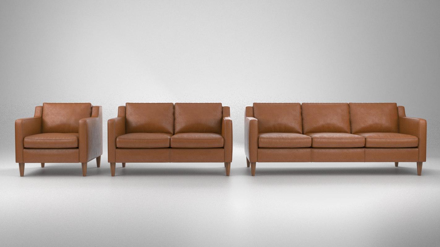 3D hamilton sofa pack model