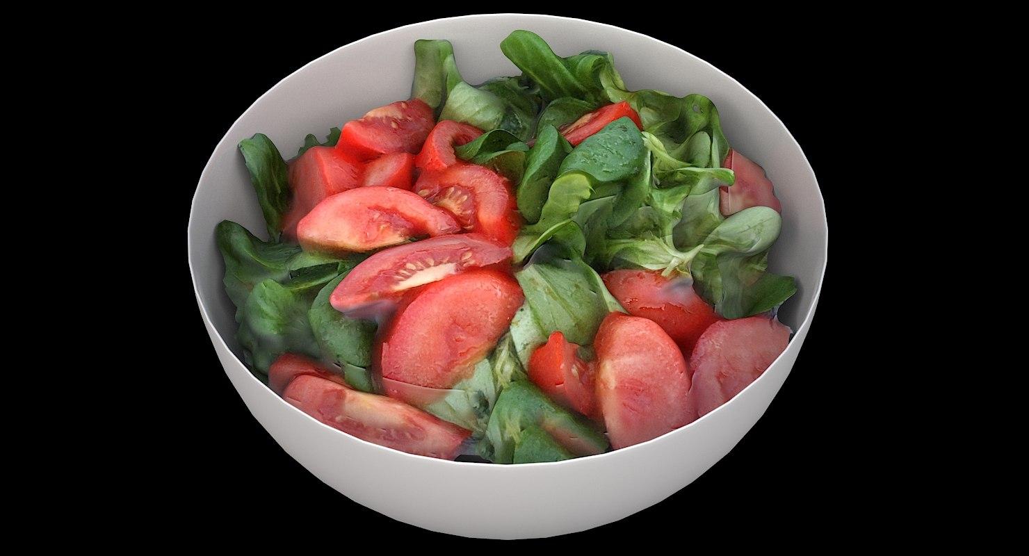 scan bowl salad 3D model