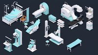 Low Poly Hospital Set - Medical Equipments