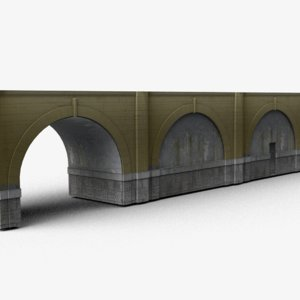 modular concrete bridge 3D model