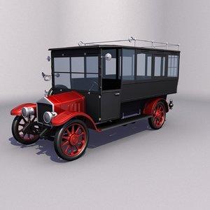 3D oldtimer bus model