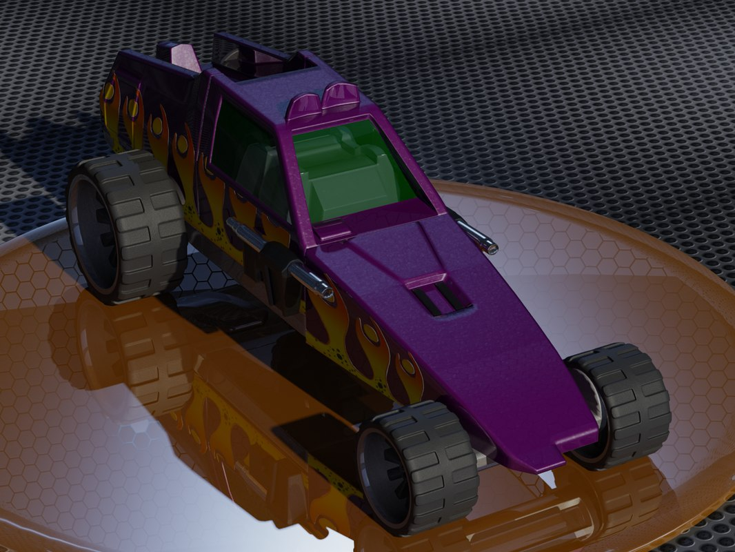 hot wheels enforcer 3D model