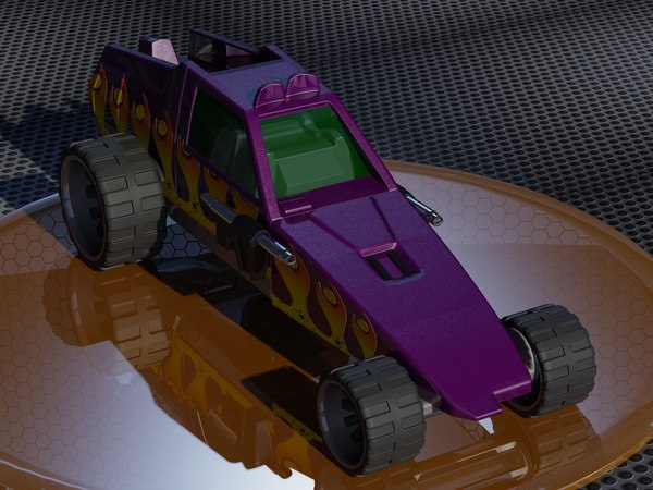 hot wheels enforcer 3D model