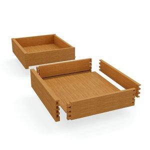 3D historic drawer model