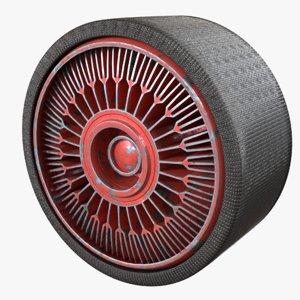 heat fins 3D model