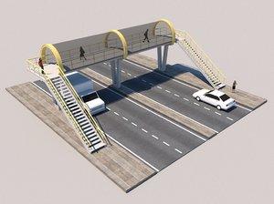 footbridge bridge 3D model
