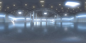 Exhibition Hall HDRI Map