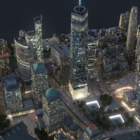 manhattan lower city 3D