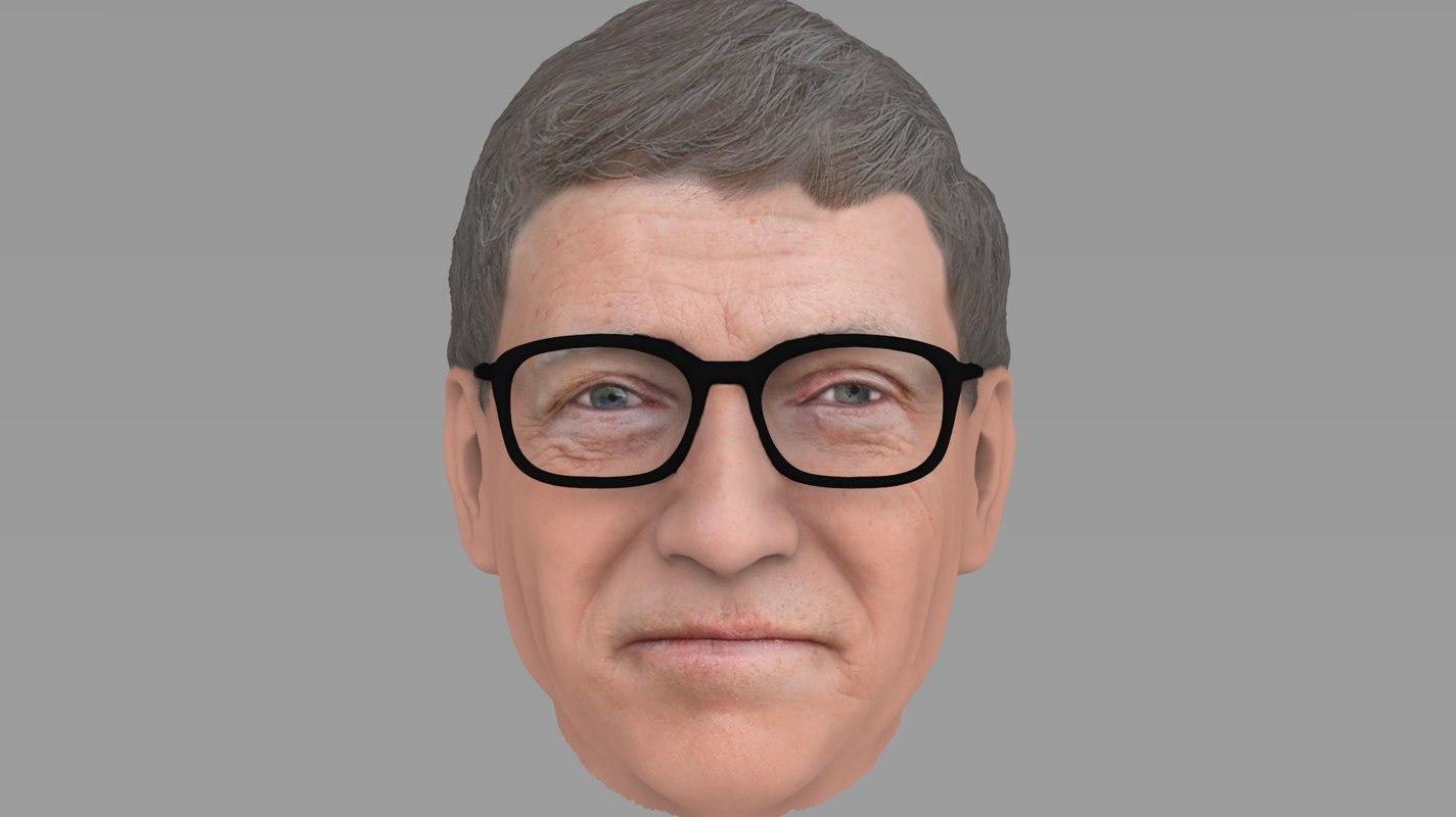 head bill gates 3D