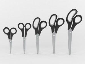 3D scissors tool model