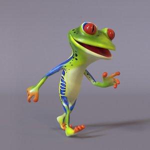 3D stylized humanoid frog
