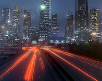 3D freeway city environment road