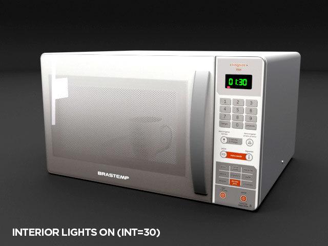 3D microwave brastemp liters -
