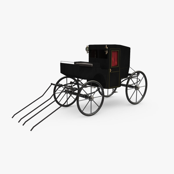 3D victorian carriage brougham