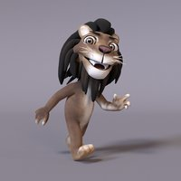 3D stylized humanoid lion model