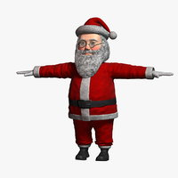 cartoon santa claus 1 3D model