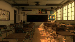 school classroom 3D model