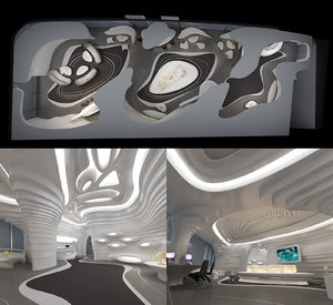 exhibition hall 3D model