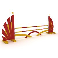 horse jump obstacle model