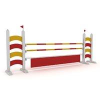 horse jump obstacle 3D