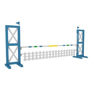 3D horse jump obstacle model
