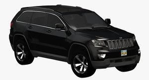 2011 jeep grand cherokee 3d model