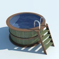 3D model water pool play