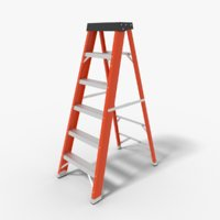 3D step ladder model