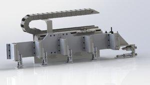 3D feeding conveying rotating module