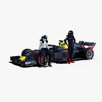 rigged f1 car 1 model