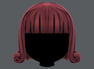 3D hair style girl v43