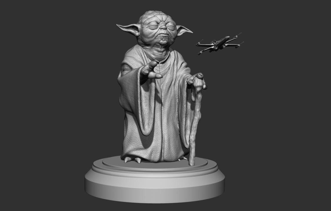 sculpture master yoda 3D model