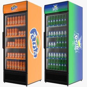 3D fridges fanta sprite