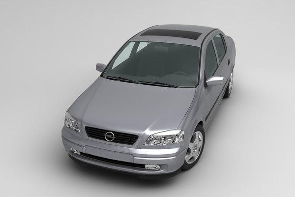 opel astra sedan 3D model