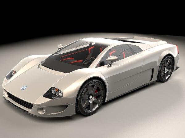 3D concept car volkswagen w12 model