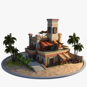 egyptian house 3D