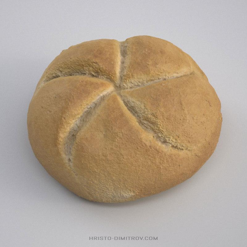 3D bread roll