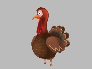 turkey bird 3D model