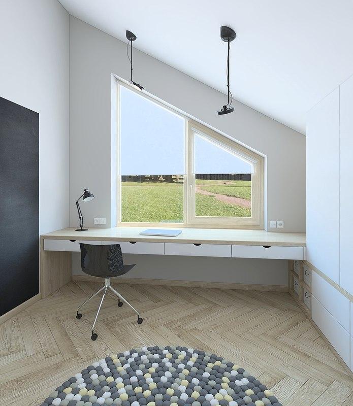 3D bedroom interior model