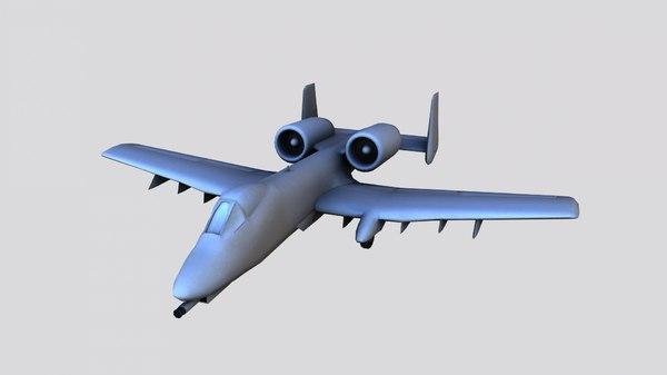 3D a-10a thunderbolt ii