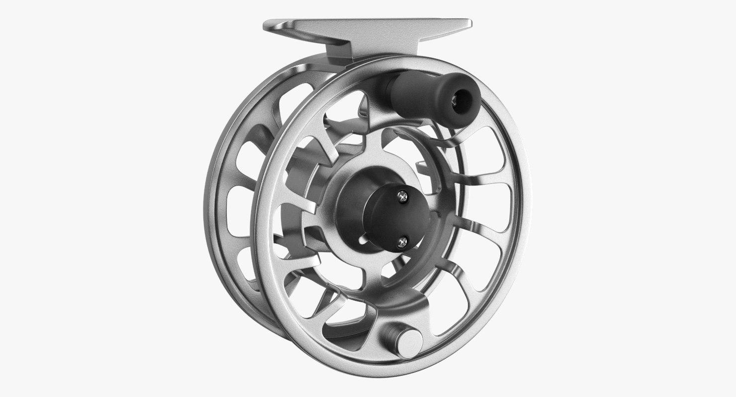 fly reel steel 3D