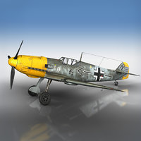 messerschmitt - bf-109 e 3D model