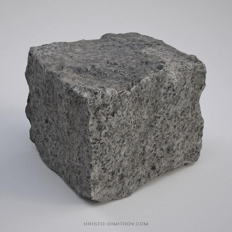 scanned paving stone 3D model