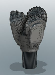 3D model tricone crusher