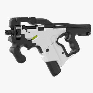 3D hi sci fi gun