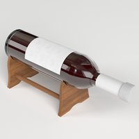 3D red wine bottle stand